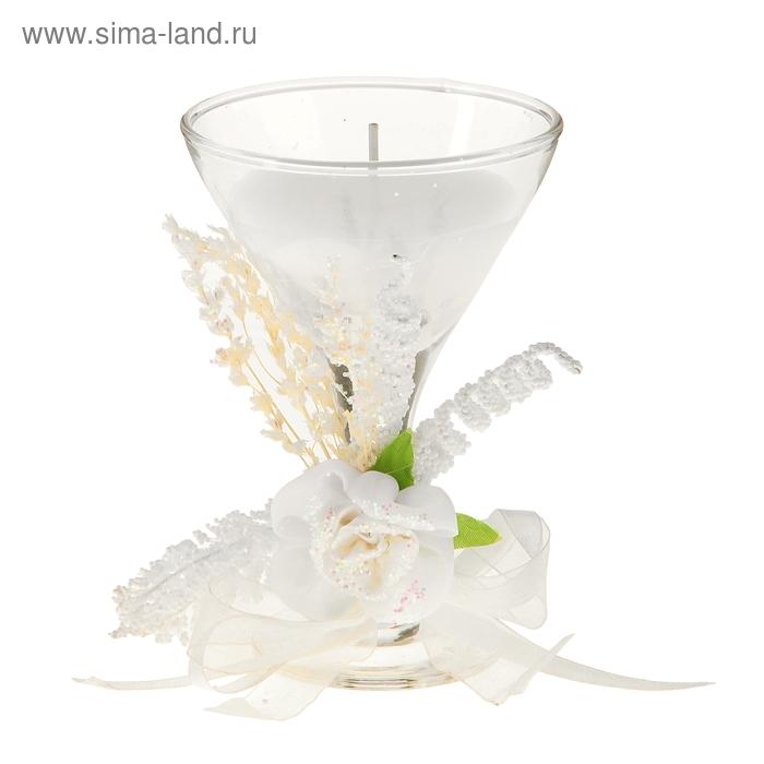 """Свеча восковая """"Букет"""", цвет белый"""