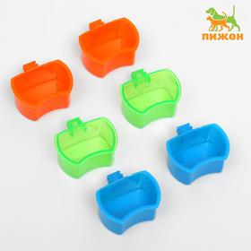 Bowl for rodents-mount cage 5x3,5 cm mix colors