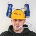 Каска с отверстиями под банки «Делу время, а пиво щас», обхват головы 56-58 см
