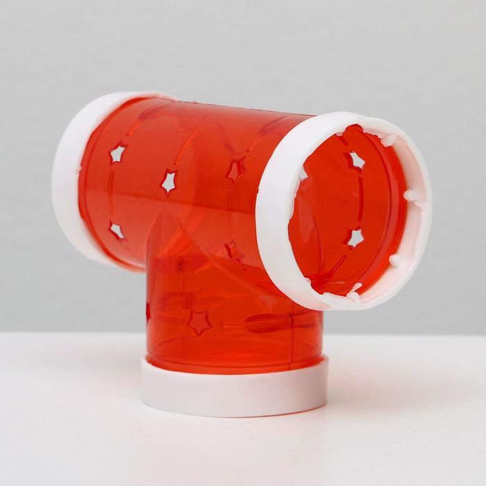 """Элемент лабиринта для грызунов """"Тройник"""", диаметр 5,5 см, микс цветов"""