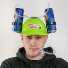 Каска с отверстиями под банки «Борюсь с алкоголем», обхват головы 56-58 см