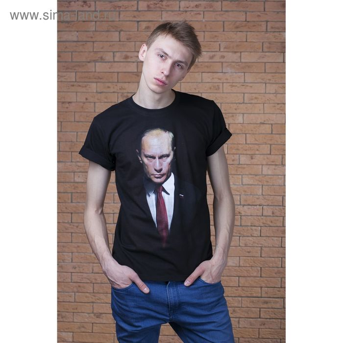 """Футболка мужская Collorista 3D """"Путин ВВ"""", размер XL (50), 100% хлопок, трикотаж"""