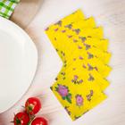 """Салфетки бумажные (набор 20 шт) 33*33 см """"Выдумка цветочная на желтом"""""""