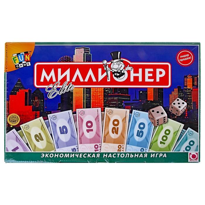 """Настольная игра """"Миллионер-элит"""", мягкая коробка"""