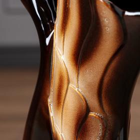 """Ваза напольная """"Лебедь"""" коричневая, 51 см, микс, керамика - фото 1702497"""