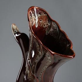 """Ваза напольная """"Лебедь"""" коричневая, 51 см, микс, керамика - фото 1702499"""