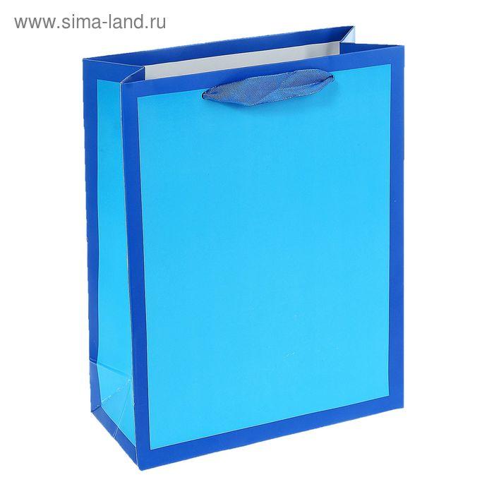 """Пакет ламинированный """"Рамка"""", цвет синий"""