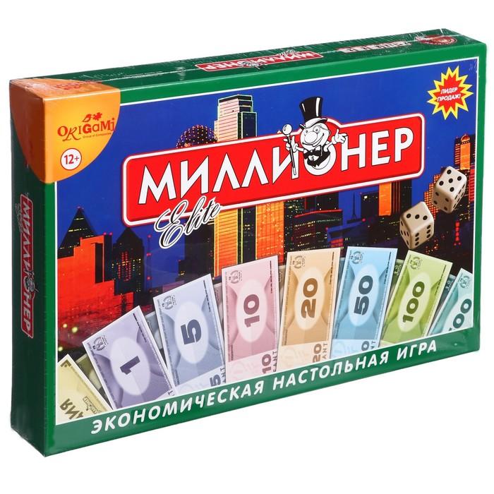 """Настольная игра """"Миллионер-элит"""", твёрдая коробка"""
