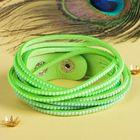 """Браслет кожа """"Гавайский"""" 6 нитей, цвет зелёный, 40 см"""