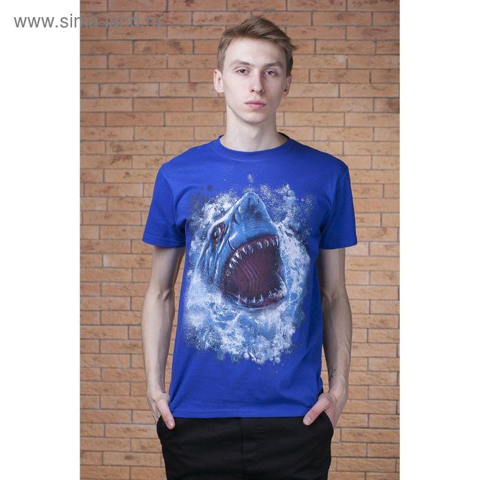 "Футболка мужская Collorista 3D ""Акула"", размер S (44), 100% хлопок, трикотаж"