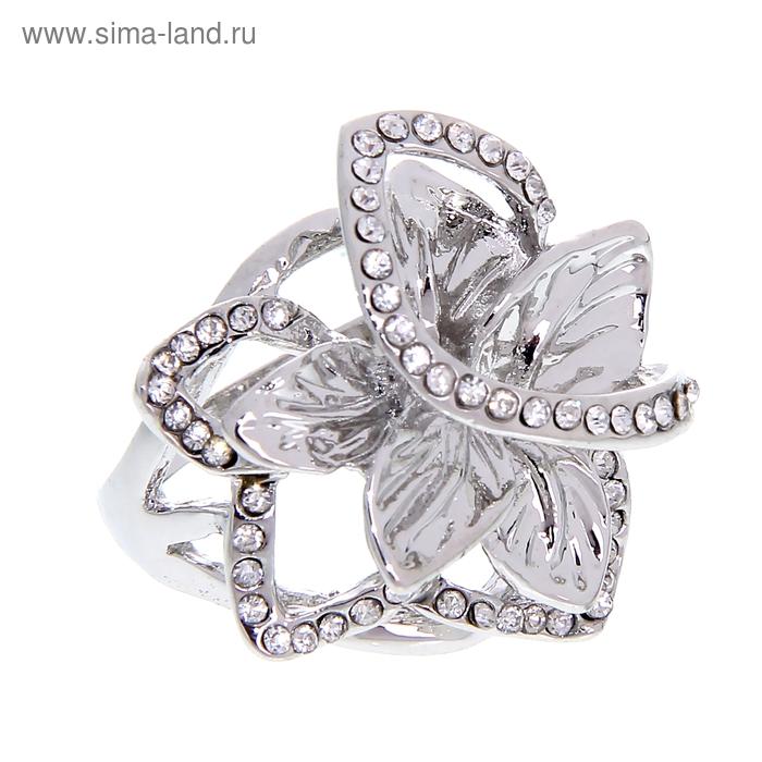 """Кольцо """"Цветок волшебный"""", цвет серебро, размер МИКС"""