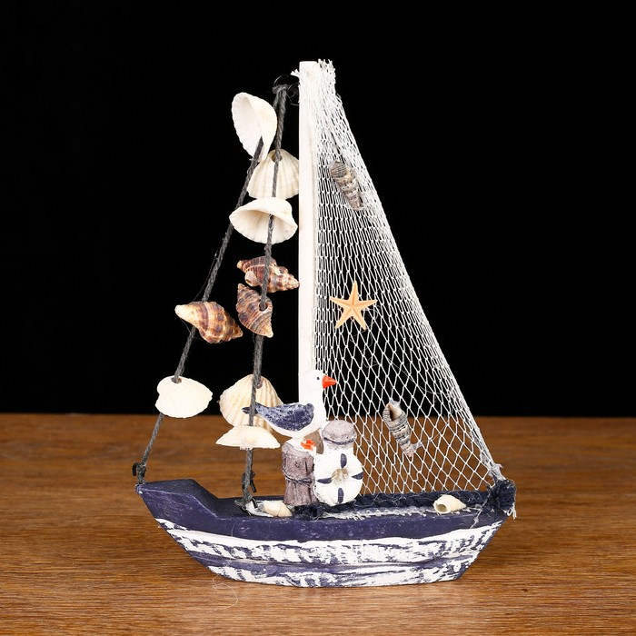 Яхта сувенирная малая «Ливадия», 14 × 3,5 × 18,5 см