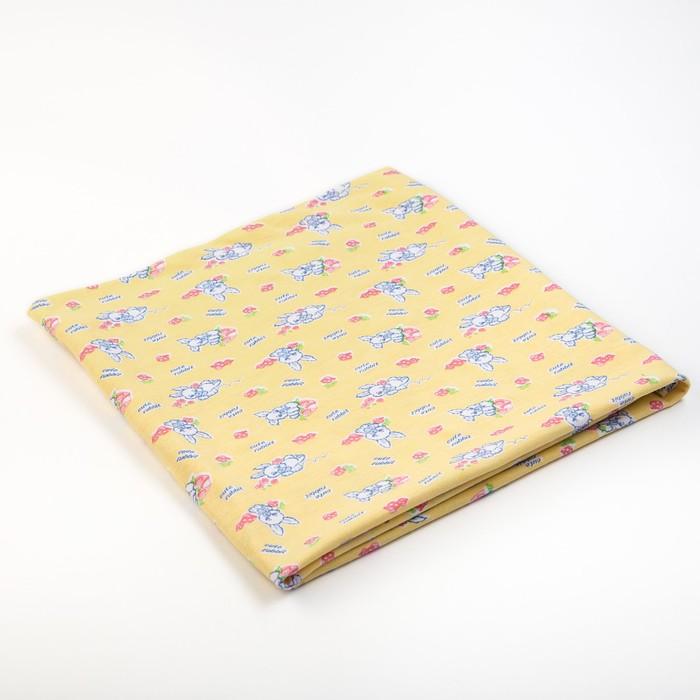 Пеленка, размер 75х120 см, кулирка, цвет МИКС 1210