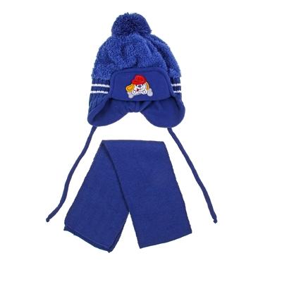 """Комплект детский зимний """"Песик в кепке"""": шапка, шарф, объем головы 46-48см (1-2года), цвет микс"""
