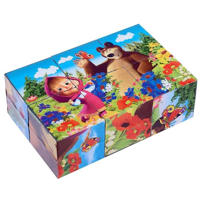 Кубики «Маша и Медведь», 6 штук - фото 1038782