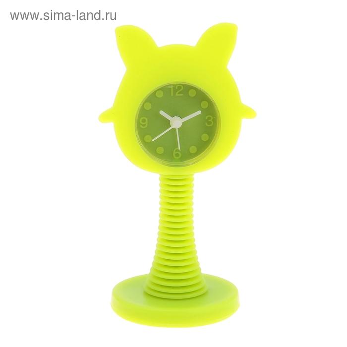"""Будильник на пружинке """"Зайка"""", цвет зеленый"""