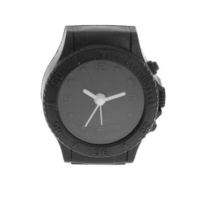 "Будильник ""Часы наручные"",  черные 6.5х6 см"