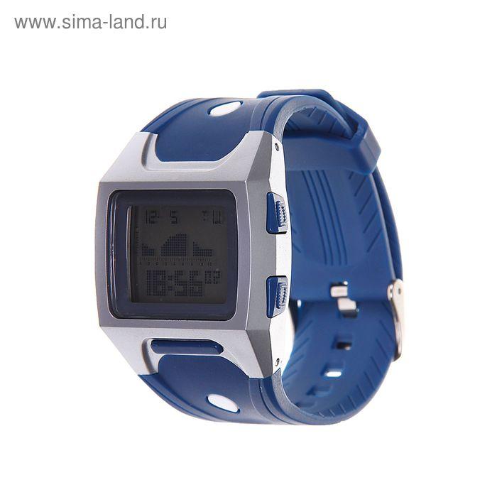 Часы наручные мужские, электронные с силиконовым ремешком, водонепроницаемые, синие 4*26см