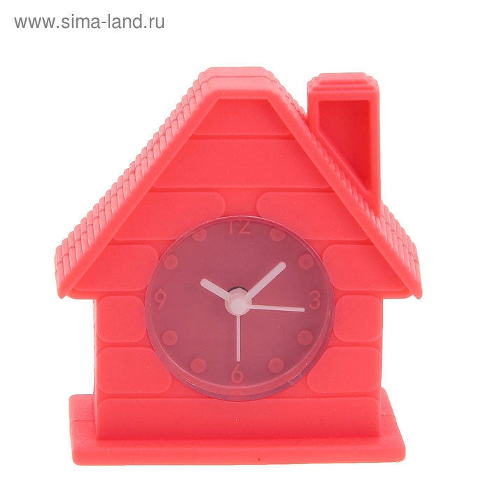 """Будильник """"Домик"""", цвет красный"""