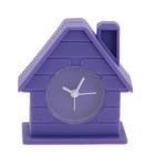 """Будильник детский """"Кирпичный дом"""",  фиолетовый, 8х4 см"""