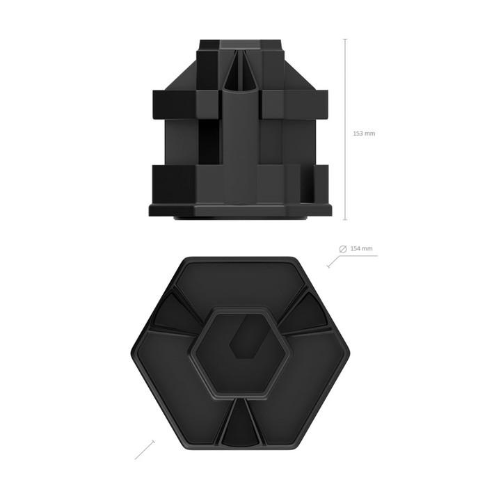 Набор настольный канцелярский, 14 предметов Erich Krause «Офисный», чёрный, вращающийся - фото 369526607