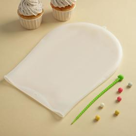 """Мешок для замешивания теста 35х22 см """"Бронк"""", цвет белый"""