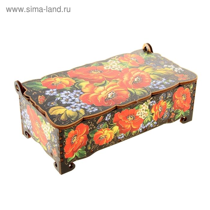 Шкатулка - купюрница «Маки», 17х9х5,8 см