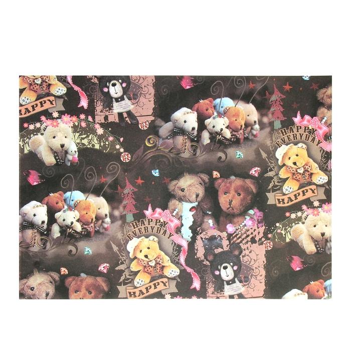 """Бумага для творчества """"Счастливые мишки"""" А4 плотность 80 гр"""
