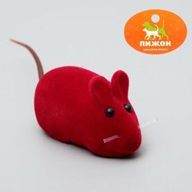 Мышь бархатная, 6 см, микс цветов