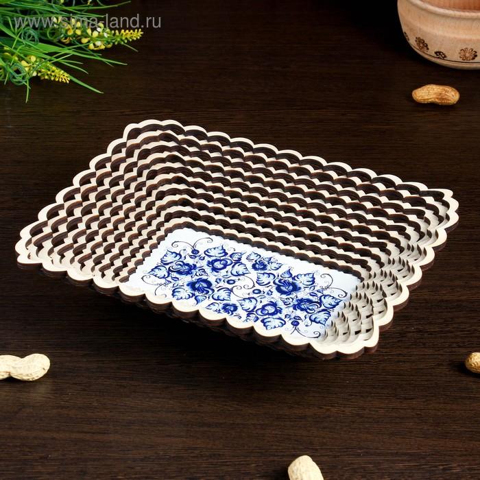 Сухарница  «Синие цветы», 23,5×18,5 см
