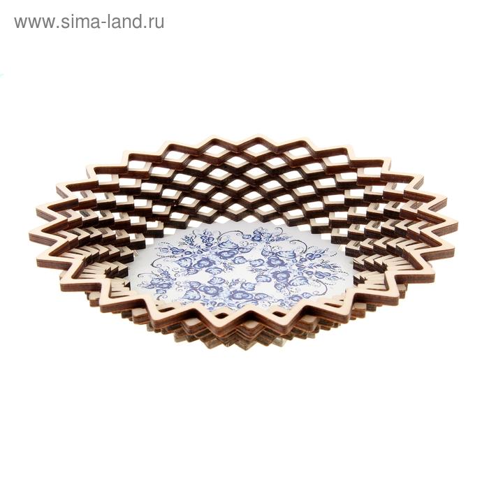 Сухарница «Синие цветы», 20×20 см