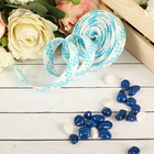 Ribbon decorative woven blue color with white
