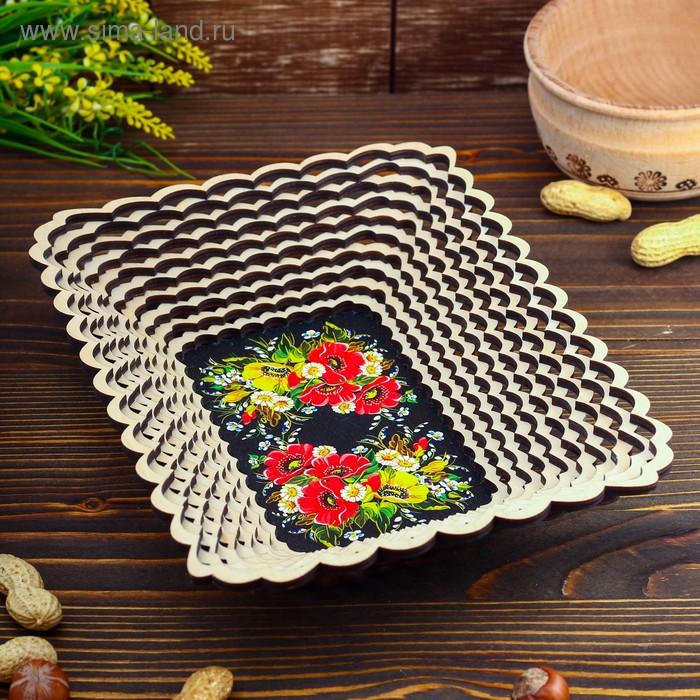 Сухарница «Маки и ромашки», 18×24 см