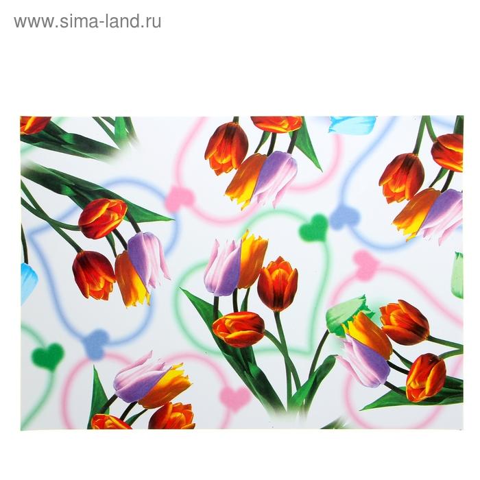 """Бумага для творчества """"Тюльпаны"""" А4 плотность 80 гр"""