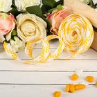 Лента декоративная плетёная, цвет жёлтый с белым