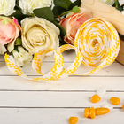 Decorative woven tape, color yellow with white