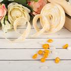Лента декоративная плетёная, цвет светло-жёлтый с белым