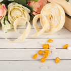 Decorative woven tape, color light yellow with white