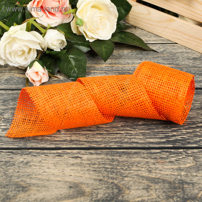 Лента упаковочная, цвет оранжевый