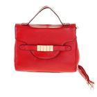 """Сумка женская """"Элизабет"""", 2 отделения, наружный карман, длинный ремень, бордовый"""