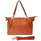 """Сумка женский """"Элеонора"""", 1 отдел с перегородкой, с расширением, наружный карман, длинный ремень, светло-коричневый"""
