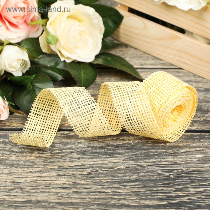 Лента упаковочная, цвет светло-жёлтый
