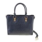 """Сумка женская """"Хоуп"""", 1 отдел с перегородкой, наружный карман, длинный ремень, синий"""