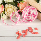 Decorative woven tape, color bright pink with white