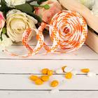 Decorative woven tape, color orange with white