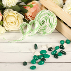 Decorative woven tape, color light green with white