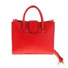 """Сумка женская """"Эльза"""", 2 отдела с перегородкой, наружный карман, длинный ремень, красная"""