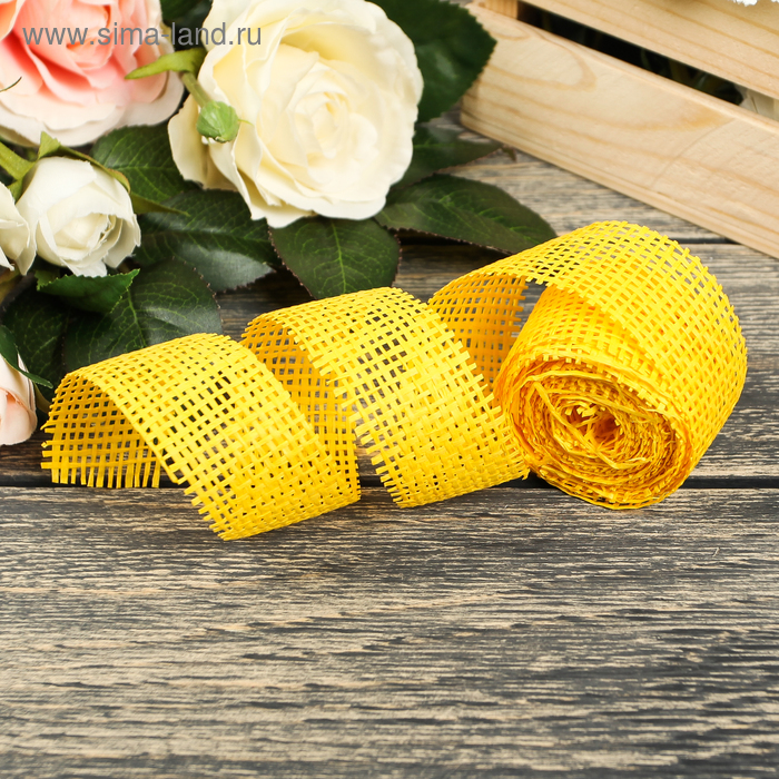 Лента упаковочная, цвет жёлтый