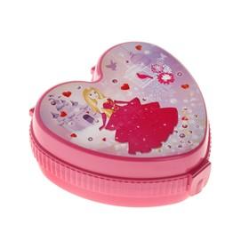 Шкатулка детская 'Сердце принцессы', цвет розовый Ош