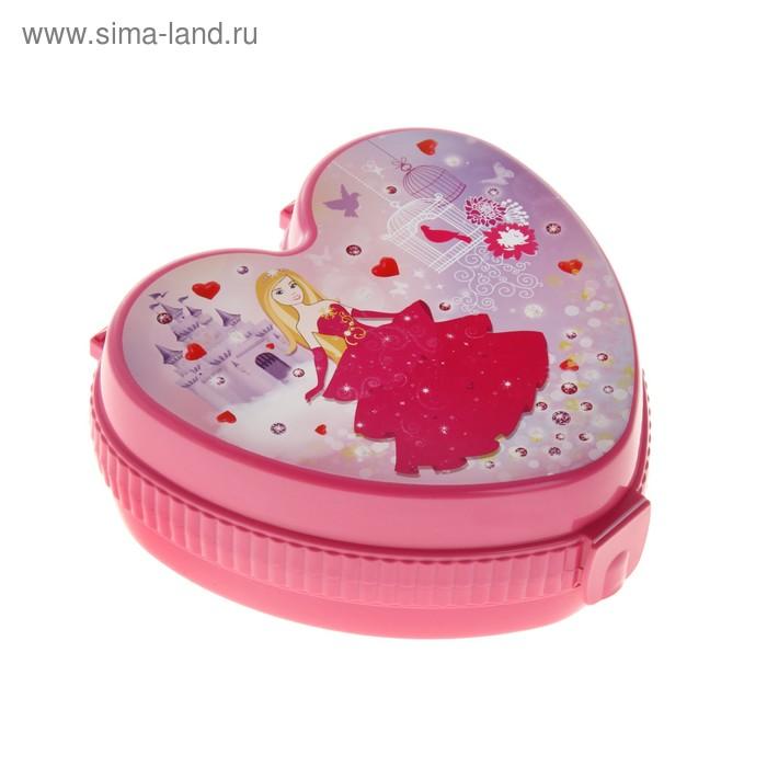 """Шкатулка детская """"Сердце принцессы"""", цвет розовый"""